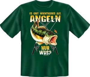 T-Shirt Wichtigeres angeln Fun Shirt Angler Fisch Angelgott (Größe:: S (42/44))