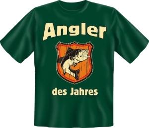 T-Shirt Angler der Jahres angeln Fun Shirt Sprüche Angelgott (Größe:: S (42/44))