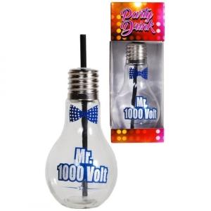Glas als Glühbirne Strohhalm Mr. 1000 Volt Elektriker Bierglas