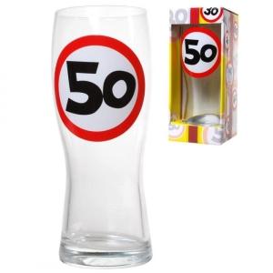 Bierglas 50 Jahre Weizenglas 50. Geburtstag Geschenk Party