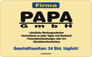 Frühstücksbrettchen Firma PAPA GmbH Schneidebrett / Brettchen aus Resopal, Kult für den tollsten Vater