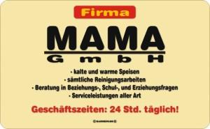 Frühstücksbrettchen Firma MAMA GmbH Schneidebrett / Brettchen aus Resopal, Kult für die tollste Mutter