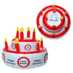Aufblasbare Geburtstagstorte Deko Party Spaß Geburtstag