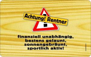 Frühstücksbrettchen ACHTUNG RENTNER! kultiges Schneidebrett / Brettchen aus Resopal zum Ruhestand