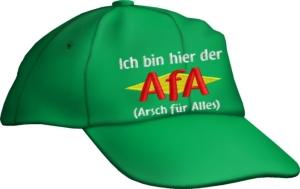 Caps Fun Ich bin hier der AfA Arsch für Alles! Base Cap Sprüche bestickt, größenverstellbar Basecap