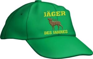 Caps Fun JÄGER DES JAHRES! Base Cap Sprüche bestickt, größenverstellbar Basecap Jagd