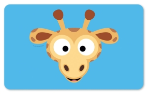 Frühstücksbrettchen Giraffe, Schneidebrett Brettchen mit einem süßen Giraffenkopf