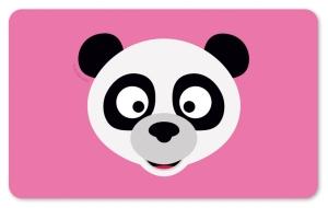 Frühstücksbrettchen Panda, Schneidebrett / Brettchen mit einem süßen Pandakopf