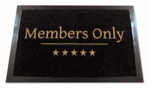 Fussmatte Members Only
