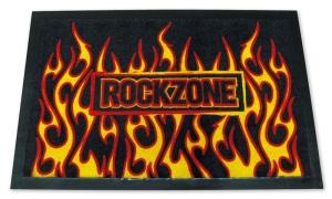 Fußmatte ROCKZONE -mit Flammen, Türmatte, Türvorleger, Fußabtreter FUN Sprüche