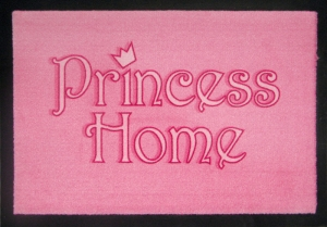 Fußmatte Princess Home, Türmatte rosa, Türvorleger FUN, Sprüche
