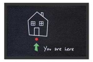 Fußmatte You are here! Wegweiser Haus Türmatte, Türvorleger, Fußabtreter, Fussmatte FUN