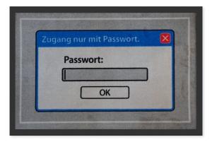 Fußmatte Zugang nur mit Passwort