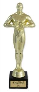 Goldene Statue ENDLICH 30, Gold Geschenkstatue Geschenk Geburtstag Trophäe