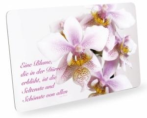 Frühstücksbrettchen Orchideen Zitat Schneidebrett Brettchen Spruch