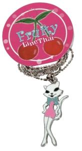 Halskette Lady Kitty Kette Rockabilly Cat, Accessoires Modeschmuck