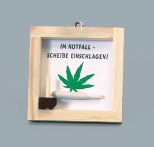 Notfall Set Joint, Scherzartikel Joint im Holzrahmen