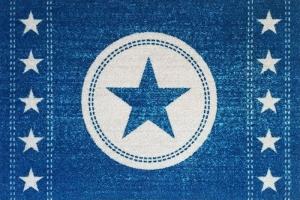Fussmatte Sterne Jeans blau Stern Türvorleger Fußabtreter