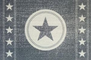 Fussmatte Sterne Jeans grau Stern Türvorleger Fußabtreter