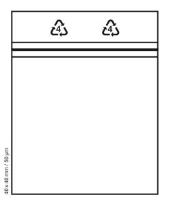 Tütchen 40x40 mm tranparent Druckverschluss Beutel Zip Bags (Anzahl: 100 Stück)