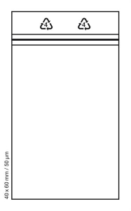 Tütchen 40x60 mm tranparent Druckverschluss Beutel Zip Bags (Anzahl: 100 Stück)