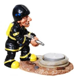 Feuerwehrmann Teelichthalter Teelicht Feuerwehr Kerze