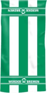 Werder Bremen Handtuch Blockstreifen Handtuch grün/weiß 50 x 100 cm für den echten Fan