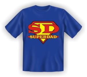 Fun Shirt Papa Vater SD SUPER DAD T-Shirt Spruch witzig Geschenk Party (Größe:: S (42/44))