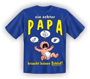 Fun Shirt echter Papa keinen Schlaf Vater DAD T-Shirt Spruch witzig Geschenk (Größe:: S (42/44))