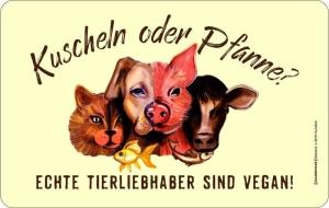 Frühstücksbrettchen ECHTE TIERLIEBHABER SIND VEGAN!