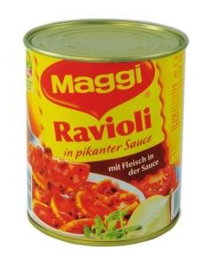 Dosenversteck Maggi Ravioli