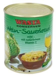Dosenversteck Sauerkraut Wasta