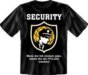 T-Shirt Security (Größe:: S (42/44))