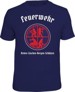 Fun Shirt FEUERWEHR RETTEN LÖSCHEN BERGEN SCHÜTZEN (Größe:: S (42/44))