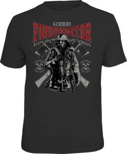 Fun Shirt FEUERWEHR GERMAN FIREFIGTER (Größe:: XXL (56))