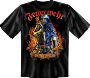 Fun Shirt FEUERWEHR REAL HEROES (Größe:: XXL (56))