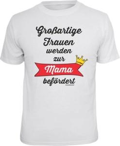 T-Shirt großartige Frauen zur Mama befördert (Größe:: L (50/52))