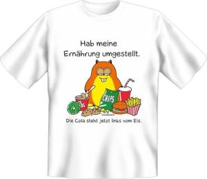 T-Shirt Ernährung umgestellt (Größe:: S (42/44))