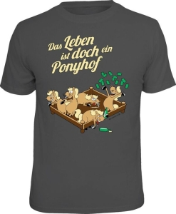 T-Shirt DAS LEBEN IST DOCH EIN PONYHOF (Größe:: S (42/44))