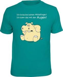 T-Shirt BRAUCHE KEINEN MITTELFINGER (Größe:: S (42/44))