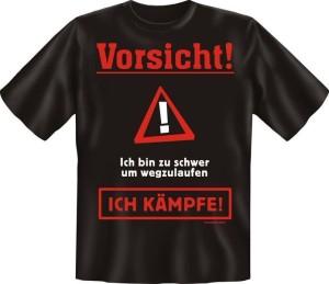 T-Shirt ZU SCHWER UM WEGZULAUFEN (Größe:: S (42/44))
