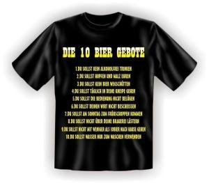 T-Shirt DIE 10 BIER GEBOTE (Größe:: S (42/44))