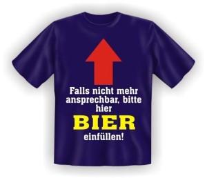 T-Shirt BITTE BIER EINFÜLLEN (Größe:: S (42/44))