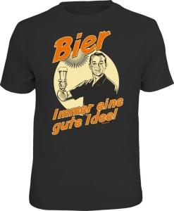T-Shirt BIER IMMER EINE GUTE IDEE (Größe:: S (42/44))