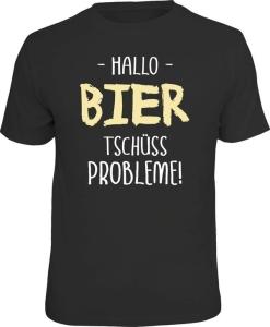 T-Shirt HALLO BIER TSCHÜSS PROBLEME (Größe:: XL (52/54))