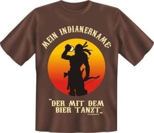 T-Shirt MEIN INDIANERNAME DER MIT DEM BIER TANZT (Größe:: XL (52/54))