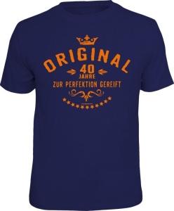 T-Shirt ORIGINAL 40 Jahre ZUR PERFEKTION GEREIFT (Größe:: XXL (56))