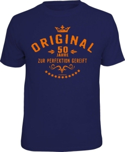 T-Shirt ORIGINAL 50 Jahre ZUR PERFEKTION GEREIFT (Größe:: L (50/52))