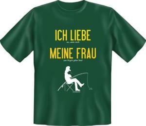 T-Shirt ICH LIEBE MEINE FRAU WENN ICH ZUM ANGELN DARF (Größe:: XXL (56))