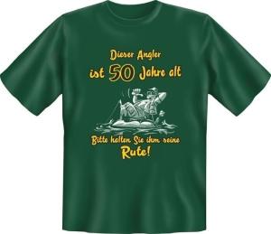 T-Shirt ANGLER IST ÜBER 50 JAHRE ALT (Größe:: XXL (56))